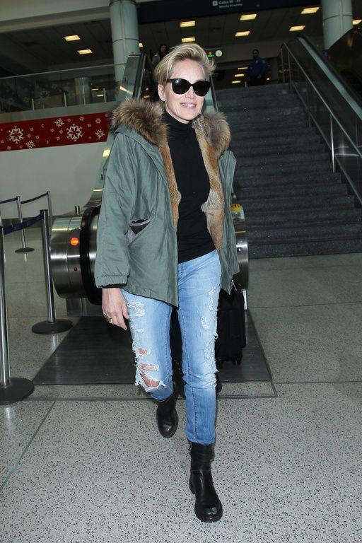 Sharon Stone à Los Angeles le 28 décembre 2015