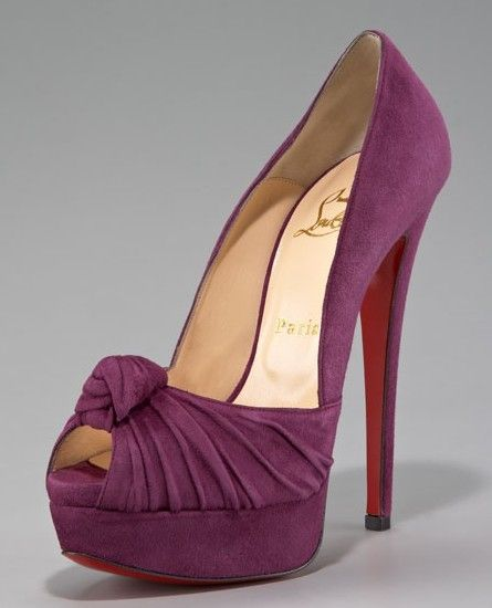Christian Louboutin blossom pumpsKnots Platform, Jenny Knots, Shades Of Purple, The Knots, Platform Pumps, Christian Louboutin Shoes, Louboutin Jenny, Neiman Marcus, New Shoes