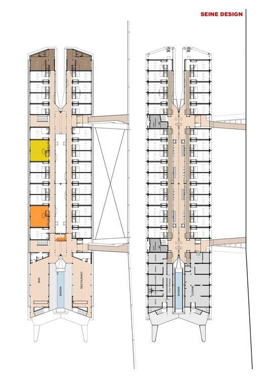 Gallery Of Hotel Flottant / Seine Design   27. Hotel Floor PlanParis ...