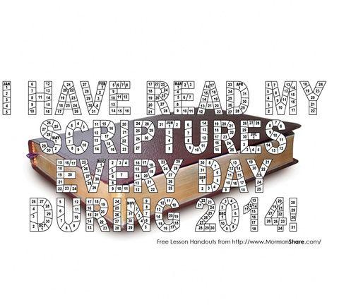 2014 scripture reading chart