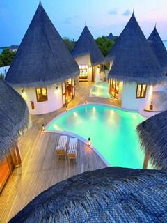 Maldives looks fab but can't imagine trying to get to my hut drunk without falling into the pool!