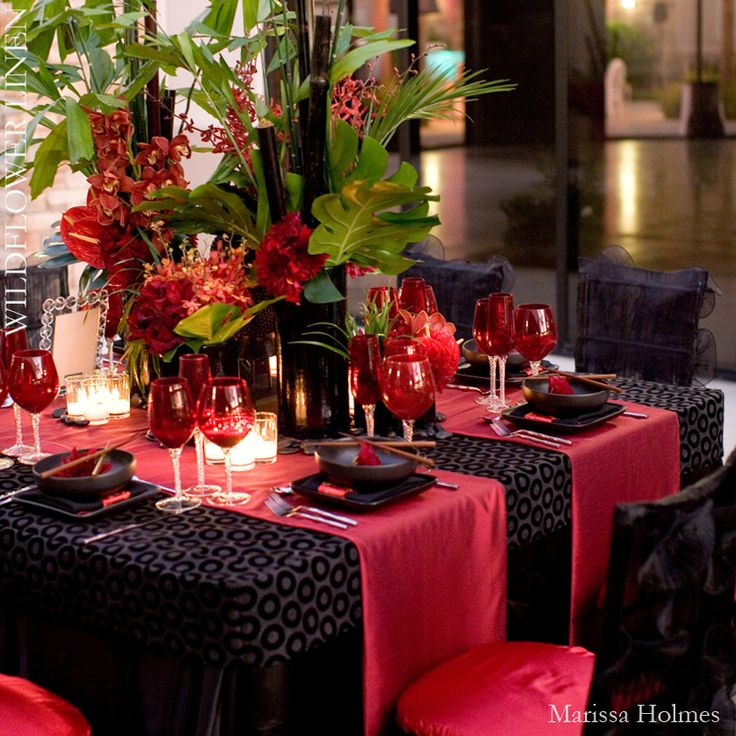 Dark Red Wedding Decorations: 189 Best Images About Black White And Red Wedding On