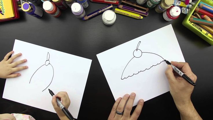 how to draw a cupcake video