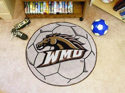 Customize any room in your home or office and show your team pride with this Western Michigan University Soccer Ball by Fanmats. The nylon mat is chromojet painted in the team colors and decorated wit