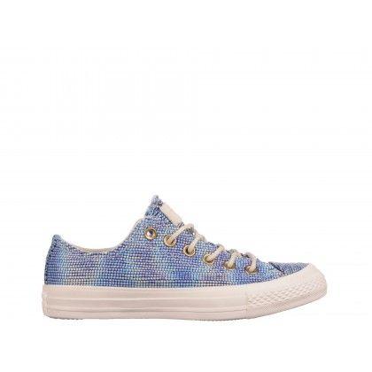 Tenisi Converse albastri, din material textil