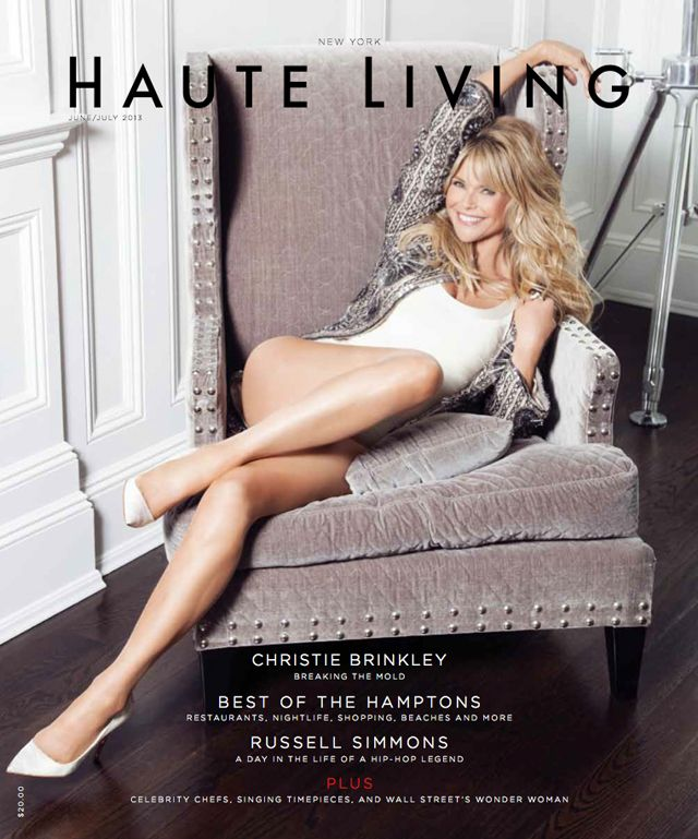 "Christie Brinkley Covers ""Haute Living"" Magazine (She's 59.....MY AGE!!!!...Go Total Gym!....R)"