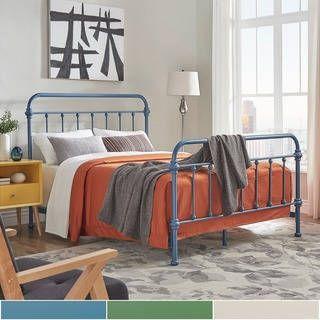 Best Giselle Ii Metal Bed Inspire Q Modern Queen Metal Bed 640 x 480