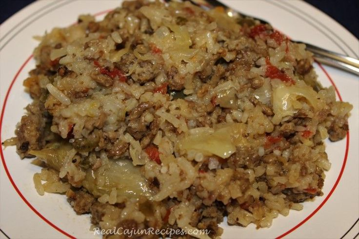Cabbage, Meat and Rice Casserole (Rice Cooker)