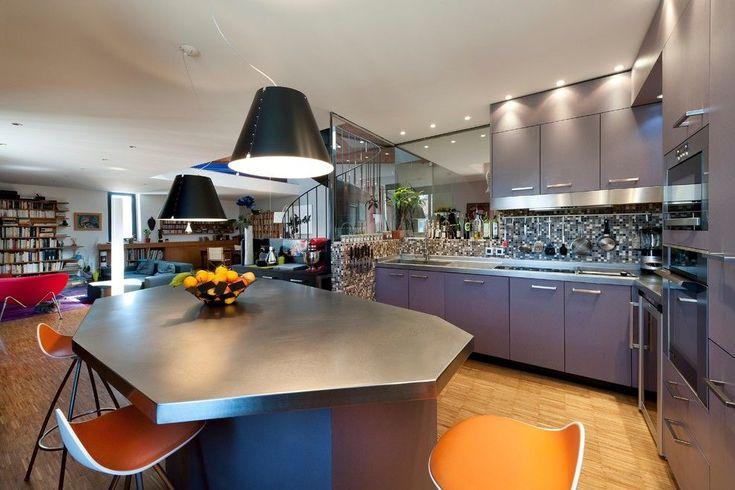 Фотоплитка www.panorama-decoli.ruHappyModern.RU | Фиолетовая кухня (58 фото): смелое решение для сильных духом | http://happymodern.ru