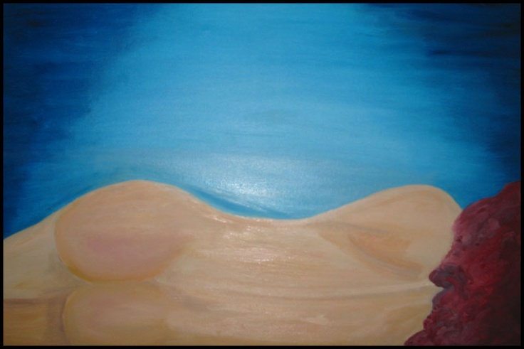 """Maleri lavet af Margrethe Hansen"""" woman who is naked"""