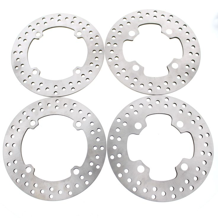 2017 Can-Am Commander Max Limited 1000 4x4 Front and Rear Brake Rotors Discs, Silver stainless steel