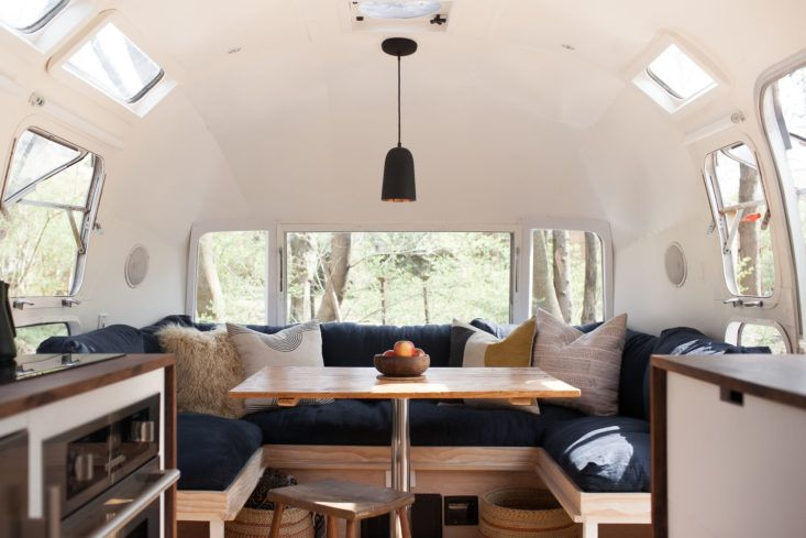 modern caravan vintage airstream renovation dining