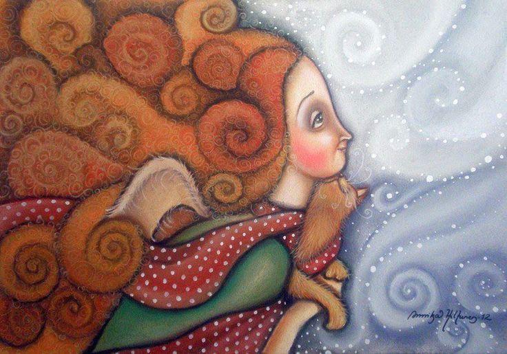 Pinzellades al món: Els àngels il·lustrats per Annika Hiltunen