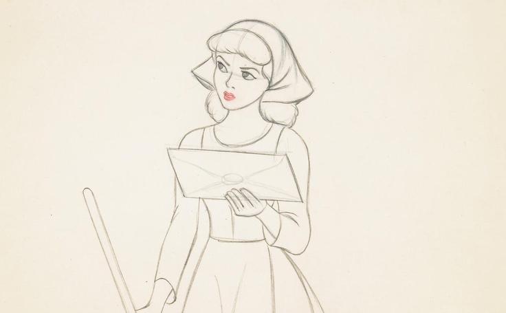 Walt Disney drawing from Cinderella | Cinderella ...