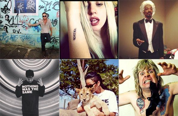 """The 50 Best Rock-Star Instagram Accounts"" from Lady Gaga to Rihanna! #YALanguageLearner"