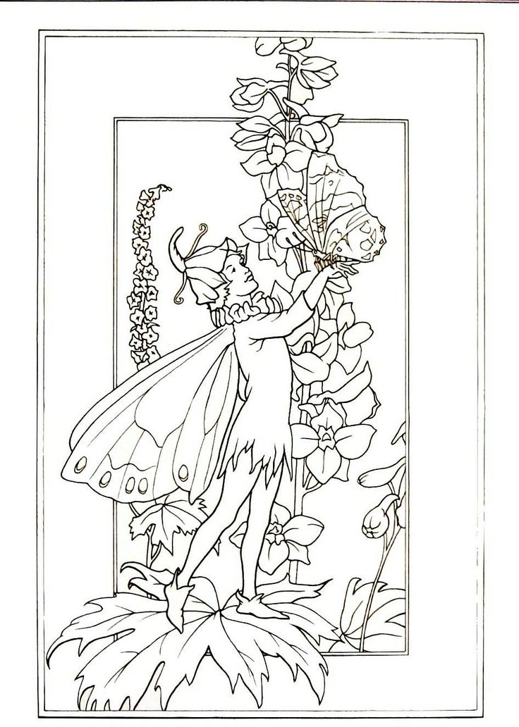 106 best Fairies Coloring Book Pages images on Pinterest ...