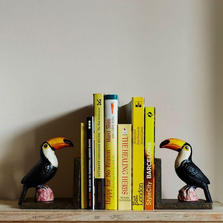 Toucan Bookends