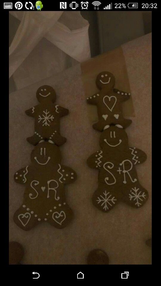 Royal Icing Decorated Gingerbread Wedding Favours