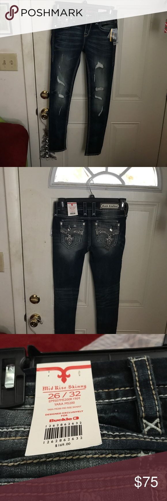Rock revival women's jeans size 26/32 Rock revival jeans denim cute and skinny Rock Revival Jeans Skinny