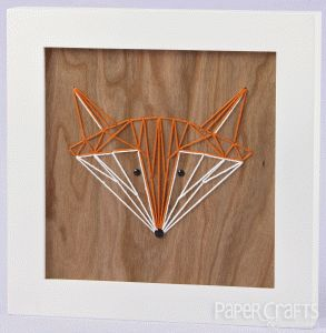 Amanda Coleman - Paper Crafts & Scrapbooking July 2014: paper crafting, string art, fox