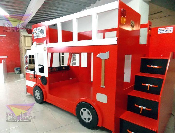 17 mejores ideas sobre camas de camiones de bomberos en - Camas coche para ninos ...