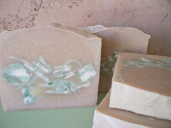 Vanilla Mint Soap with Eucalyptus, Peppermint and Spearmint Essential Oils via Etsy