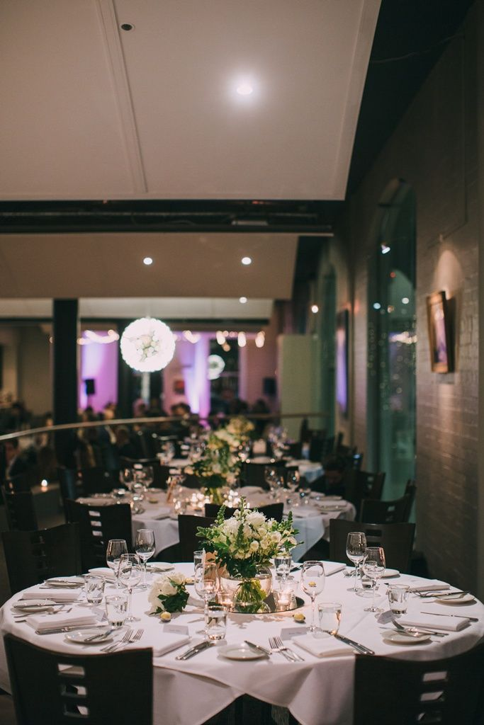 simple and stunning with the chandelier backdrop at restaurant two
