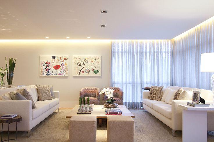 sanca invertida + iluminção + cortineiro