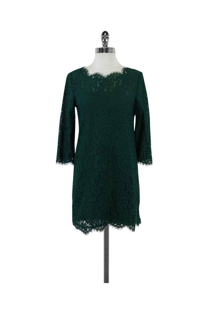 Joie- Hunter Green Lace Dress Sz XS   Current Boutique
