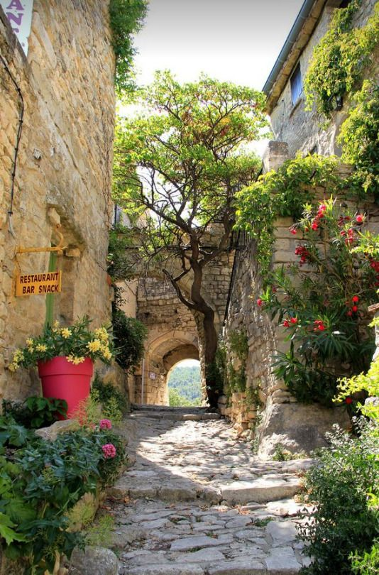 Picturesque village of Crestet, Vaucluse, France