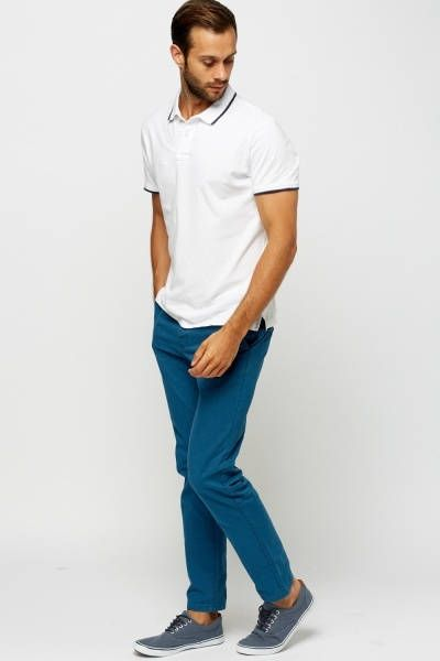 Straight Leg Chino Trousers made from 100% Cotton.
