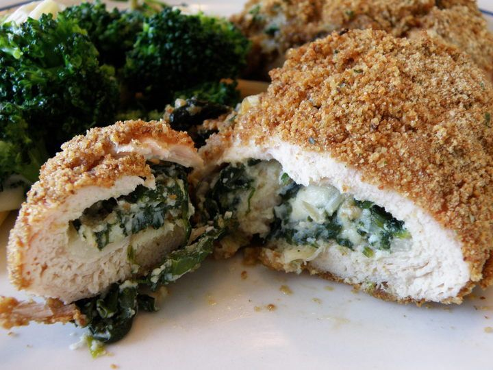 Spinach and Feta stuffed chicken | Recipes to Try | Pinterest