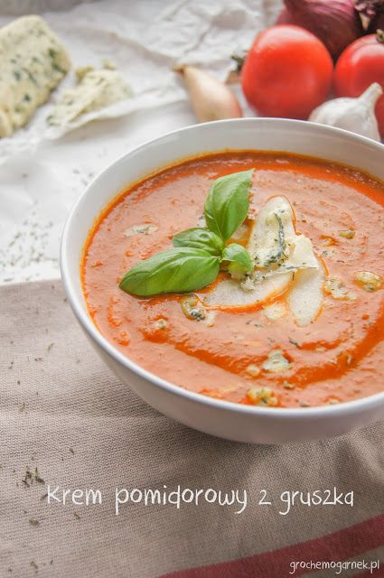 Krem pomidorowy z gruszką | Grochem o Garnek