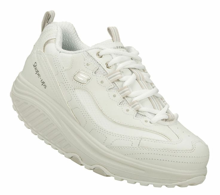 LADIES SKECHERS SHAPE-UPS METABOLIZE  TONING WALKING TRAINERS White #Skechers #CasualSport