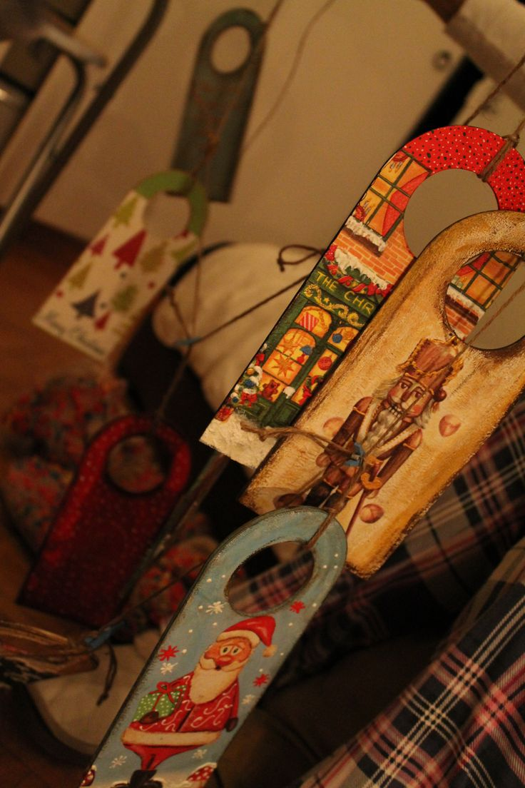 handmade decoupage ornaments