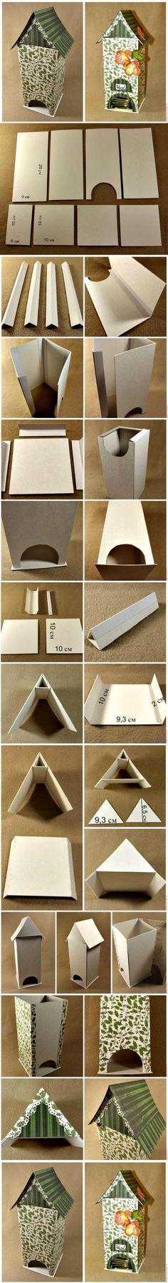 Dispensador de bolsas de té en cartón   -   DIY Cardboard Tea Bag Dispenser