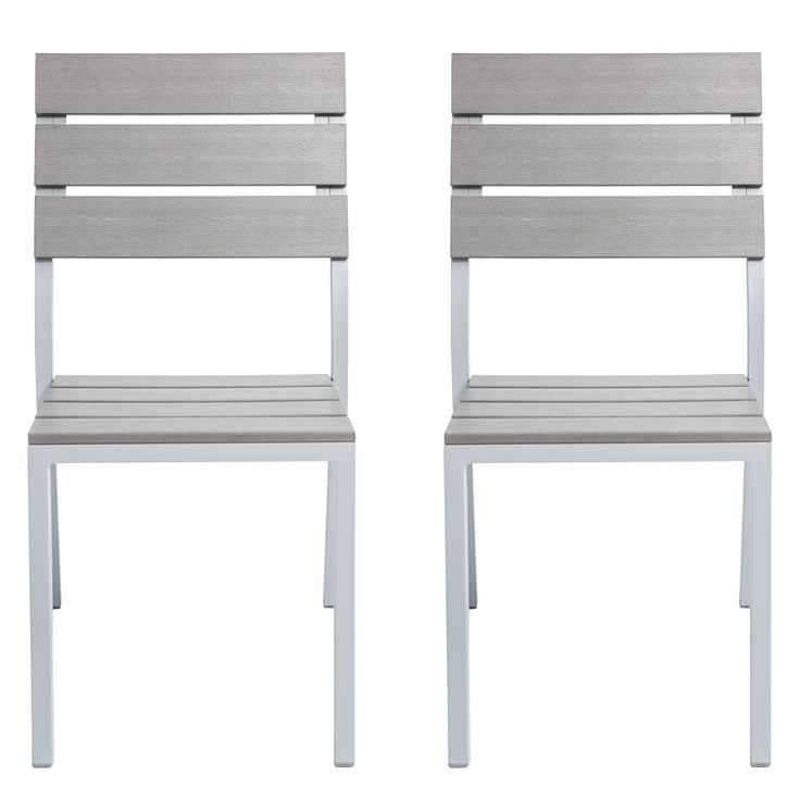 Attractive Gartenstuhl Kudo V (2er Set)   Polywood / Aluminium   Grau / Platingrau,  Fredriks Jetzt Bestellen Unter: ...