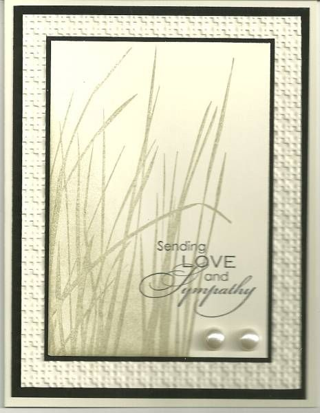 Great sympathy card. Inspired by Nature. Sahara Sand.