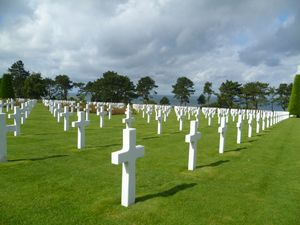Top Normandy D-Day Landing Beaches and World War II museums and sites: American World War II Cemetery in Normandy