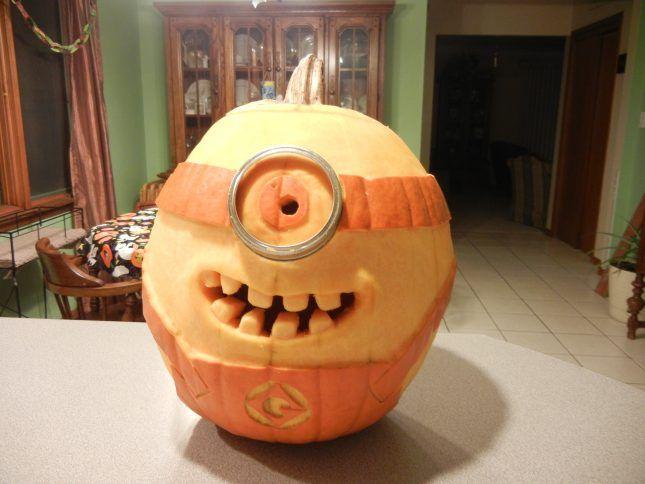 29 Creative Pumpkin Faces to Carve for Halloween via Brit + Co