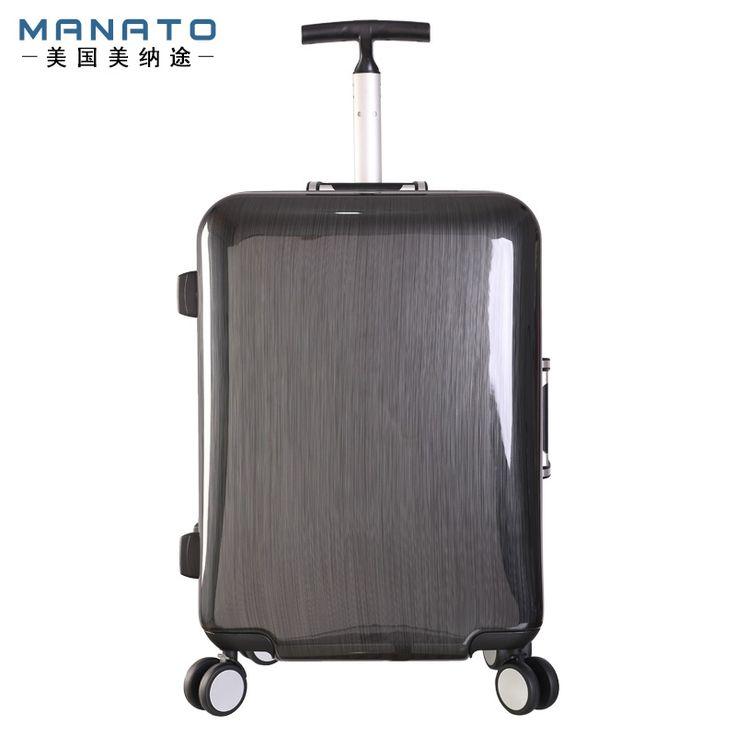 179.94$  Watch here - http://aliygu.worldwells.pw/go.php?t=1000003270009 - Manato 19 Inch Unisex Luggage Aluminum Frame Trolley Luggage Suitcase Caster Board Chassis Lockbox Singles Rod Luggage 179.94$