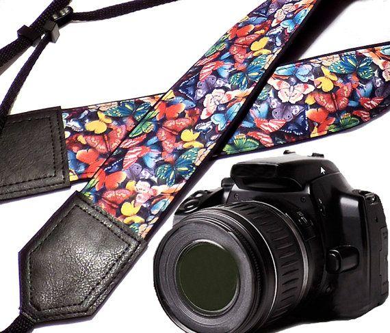Butterfly camera strap. DSLR Camera Strap. Camera by InTePro