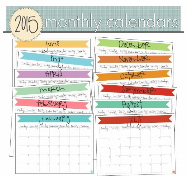 Calendars printable bikini