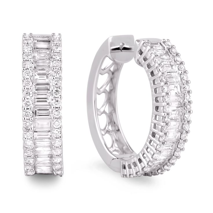Diamond Hoop Earrings SGE194 (Earrings)