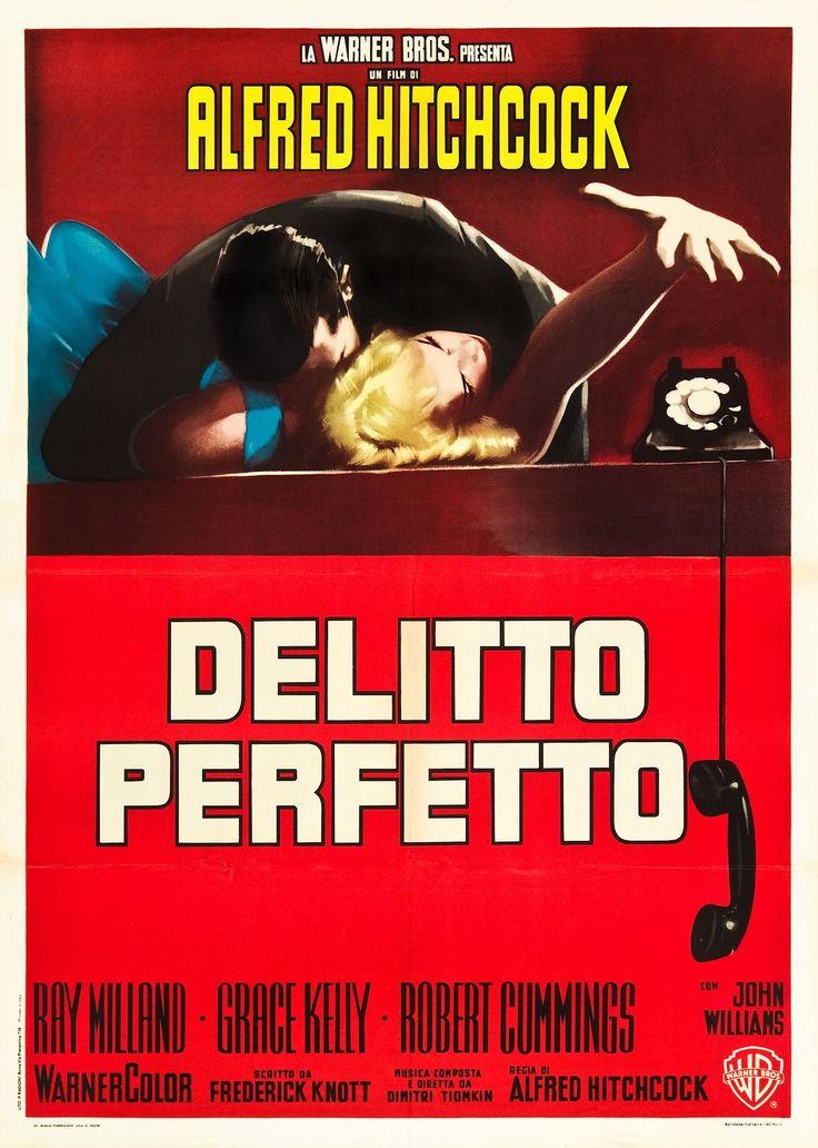 Italian poster for Dial M For Murder. 1954