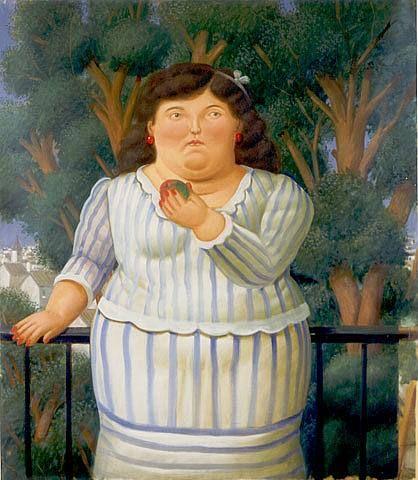 En El Balcon by Fernando Botero
