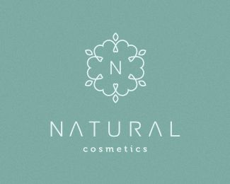Natural Cosmetics Logo design - Clean, elegant, modern, unique logo design. This logo design really could work for many type of businesses, services, stores, activities and products and not only cosmetics. Possible uses: Skin care, hair salon, beauty salon, eco products, exclusive candles, women beauty product store, gift services, apparel, lingerie, natural products, fashion, jewelry store, boutique, cosmetics, medicine, arts, spa, handmade products, accessories store, ...