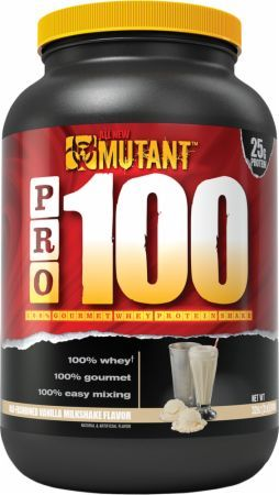 MUTANT PRO 100 Old-Fashioned Vanilla Milkshake 2 Lbs. PLV3110135 Old-Fashioned Vanilla Milkshake - High Quality 100% Pure Whey Protein You Can Trust To Support Healthy Muscle Building