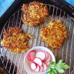 Rutabaga latkes. Potato Pancakes- use sweet potato or swedes