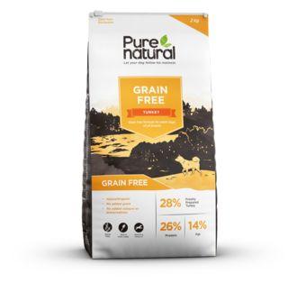 Grain free - Turkey Koostumus: Kalkkuna 50 % (28 % tuoretta luutonta kalkkunaa, 20 % kuivattua kalkkunaa ja 2 % kalkkunalientä), bataatti (26 %), herne, peruna (6 %), juurikasmassa, (4 %), pellavansiemen, Omega-3 lisä, vitamiinit ja mineraalit, kasvisliemi, karpalo (vastaa 7,5 g/kg), FOS (92 mg/kg), MOS (23 mg/kg).  Ravitsemukselliset lisäaineet per kg: Vitamiinit: E672/vitamiini A 15000 IU, E671/vitamiini D3 2250 IU; Hivenaineet: E1/rauta 160 mg, E2/jodi 1,58 mg, E4/kuparisulfaatti 60 mg…